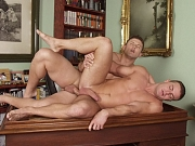 Two beefy guys fucking and sucking