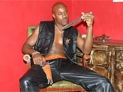 Gay Mafia hunk gets his big gun out and shoots his load