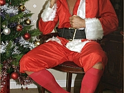 Hunky gay Santa Claus with big hard present just for you