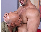 Zeb Atlas gets worshipped rimmed and cock sucked off by fan