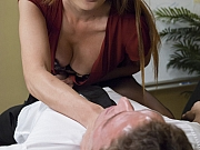 Venus Lux ts boss lady in stockings ass and mouth fucks Alexander