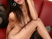 Pretty ladyboy Eats teases you and strokes her hard cock