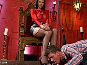 Morgan Bailey ts mistress ass fucks male sub Alexander Gustavo