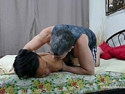 Daddy and Asian Boy Enjoy Kinky Bareback Fuck