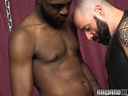 Ebony wolf drilling and rimming tight asshole