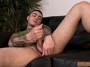 Muscle gay rimjob and cum eating