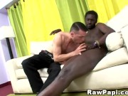 Interracial Horny Papi Gets Sweet Black Cock