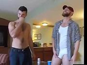 Hot bear bareback with anal cumshot
