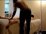 Interracial real massage client has orgasm during session