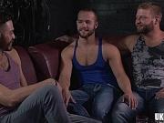 Big dick bear threesome with cumshot mk