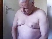 Dutch grandpa jerking off and cum