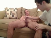 Hot dad gets sucked off by son