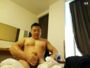 Extremely sexy Chinese muscle man webcam and cam