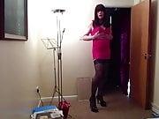 Sissy Natasha Playing and Spanking