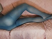 Pantyhose layer tease and anal sharpie
