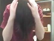 Me brushing my hair