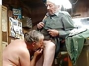 Daddy sucking grandpa