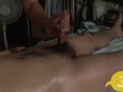 Korean boy with hand cock