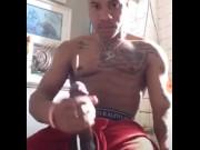 Sexy nigga bustin a fat nut