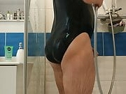 Boy in sexy one piece swimsuit hydrasuit bikini