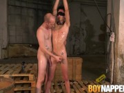 Skinny young Jesse Evans bound to cum hard after torment