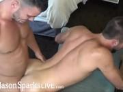 JasonSparksLive - Amateur muscle jocks fuck bareback after swapping bj