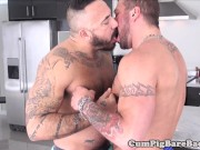 Muscly bear anally fucked and creampied